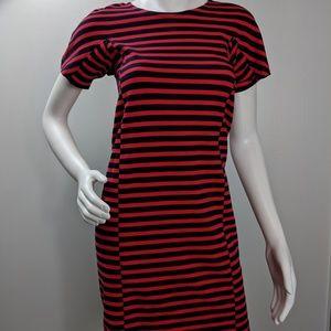 J Crew Striped Zipper Stretch Bodycon Dress Sz XXS